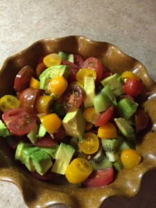 Tomato and Kiwi Salad recipe