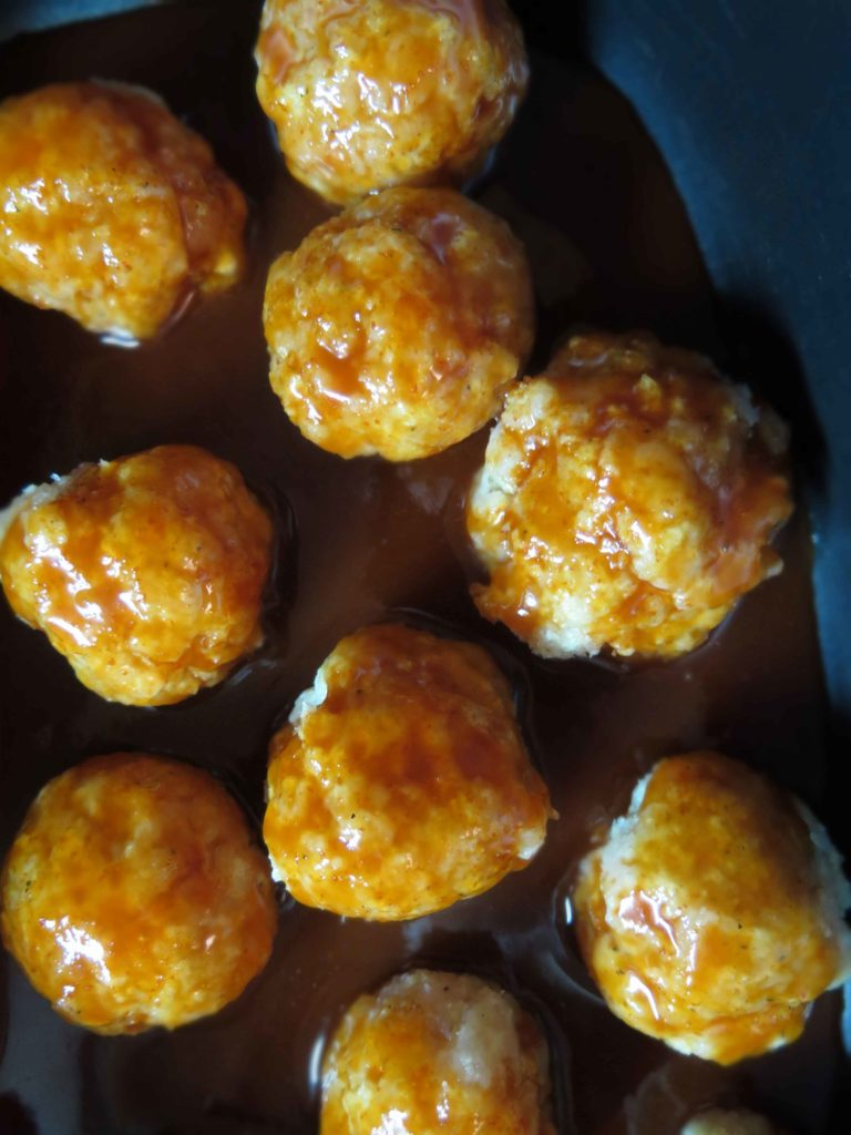 Sriracha honey meatballs