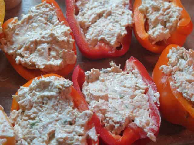 cream cheese chicken stuffed peppers
